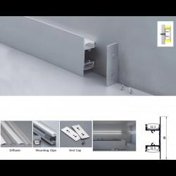 10pcs KIT 1m/3.3ft Indirect Wall/Ceiling Lighting Cabinet Light led aluminum channel, Led aluminum profile inner size 12.5mm