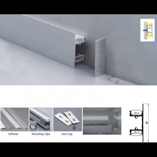 Led Aluminum Corner Profiles Channels Extrusions For Led Strip Lighting Bendable Aluminum