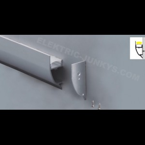 10m Indirect Lighting Ceiling Illumination aluminum profile for LED strip LED 17,3mm X 42mm , Channels, Lighting Extrusions LED Floor Tiling
