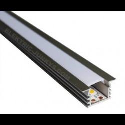 10m Indirect Lighting aluminum LED profile U LED strip 22mm x 11.87mm , Channels, Lighting Extrusions LED Floor Tiling