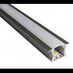 10m Indirect Lighting aluminum LED profile U LED strip 25mm x 15mm , Channels, Lighting Extrusions LED Floor Tiling
