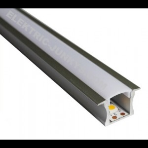 10m Indirect Lighting aluminum LED profile U LED strip 25mm x 15mm , Channels, Lighting Extrusions LED Floor Tiling