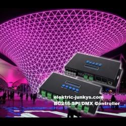 Artnet Eternet to SPI/DMX 4/16 Channel Madrix Controller for LED Strips