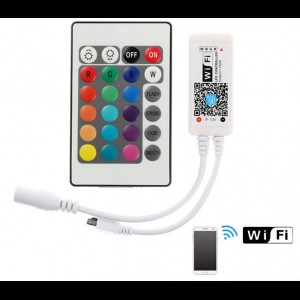 WIFI Wireless LED Smart Controller Working with Android and IOS System Mobile Phone Free App for 16.4ft 300 LEDs RGB LED Light Strips