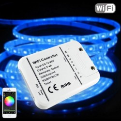 16Million colors Wifi 5channels RGB/WW/CW led controller smartphone control music and timer mode wifi led controller