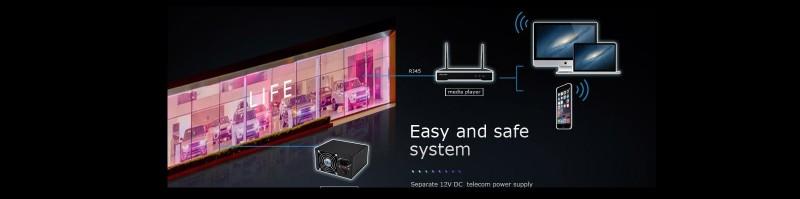Transparent LED Video Film P30 WIFI Controller